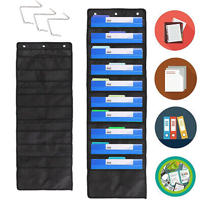 10pockets School Office Wall Door Hanging File Folder Organizer Pocket Chart