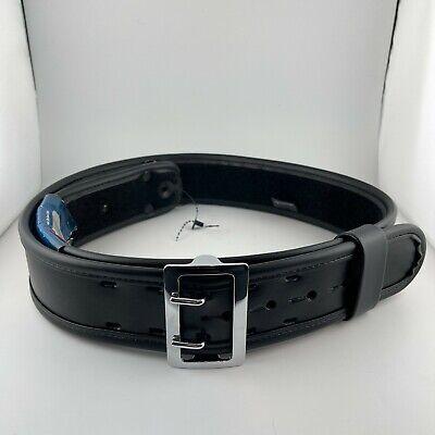 Bianchi 7960 Sam Browne Duty Belt Plain Black W Chrome Buckle 42 - 44