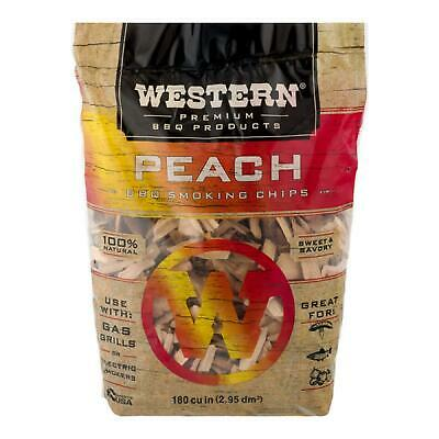 Wood Chips For Smoking Meat Pork Ribs BBQ Electric Smoker Box Gas Grill, Peach