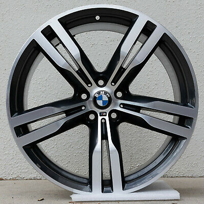 "SET 4 BMW 740e 740i 750i M760i 20x8.5 20x10 OEM WHEELS 20"" RIMS 86281 86285 648M"