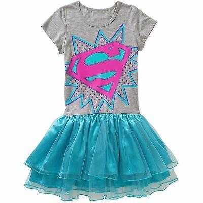 Short Sleeve Tutu - DC Comics Super Girl Short Sleeve Tutu Tunic Skirt Dress Girl Size 6/6X