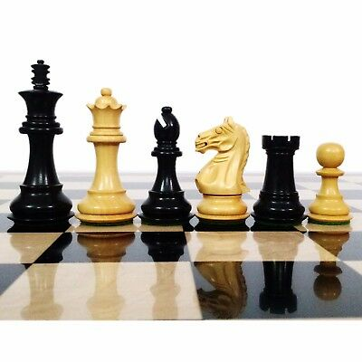 Fierce Knight Staunton Chess Pieces set - Weighted Boxwood - 3.5