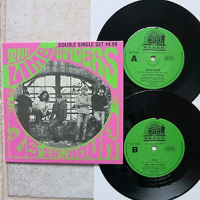 "LIME SPIDERS - 25th HOUR + 3    2 x 7"" Single Set  Green BTS 972"