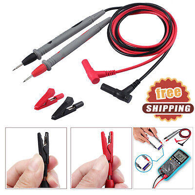 Electronic Digital Multimeter Probe Test Tips Test Leads With 2mm Alligator Clip