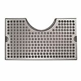 Stainless Steel Tower Cutout Draft Beer Drip Tray No Drain Removable Grate 12x7