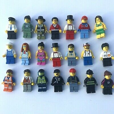 LEGO Minifigure Lot of 10 People - City, Town, Citizens - Randomly Selected