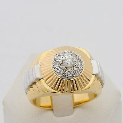 RING ROLEX MAN WOMAN GOLD 18 CT 750 WITH DIAMONDS BRILLIANT CUT 0,40 CT
