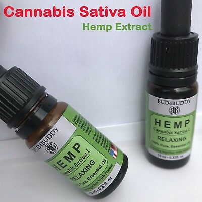 Hemp Oil Extract Organic Cannabis Sativa Pain Stress Relief Psoriasis Skin Care