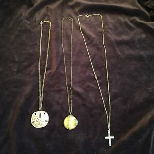 Various chains with pendants