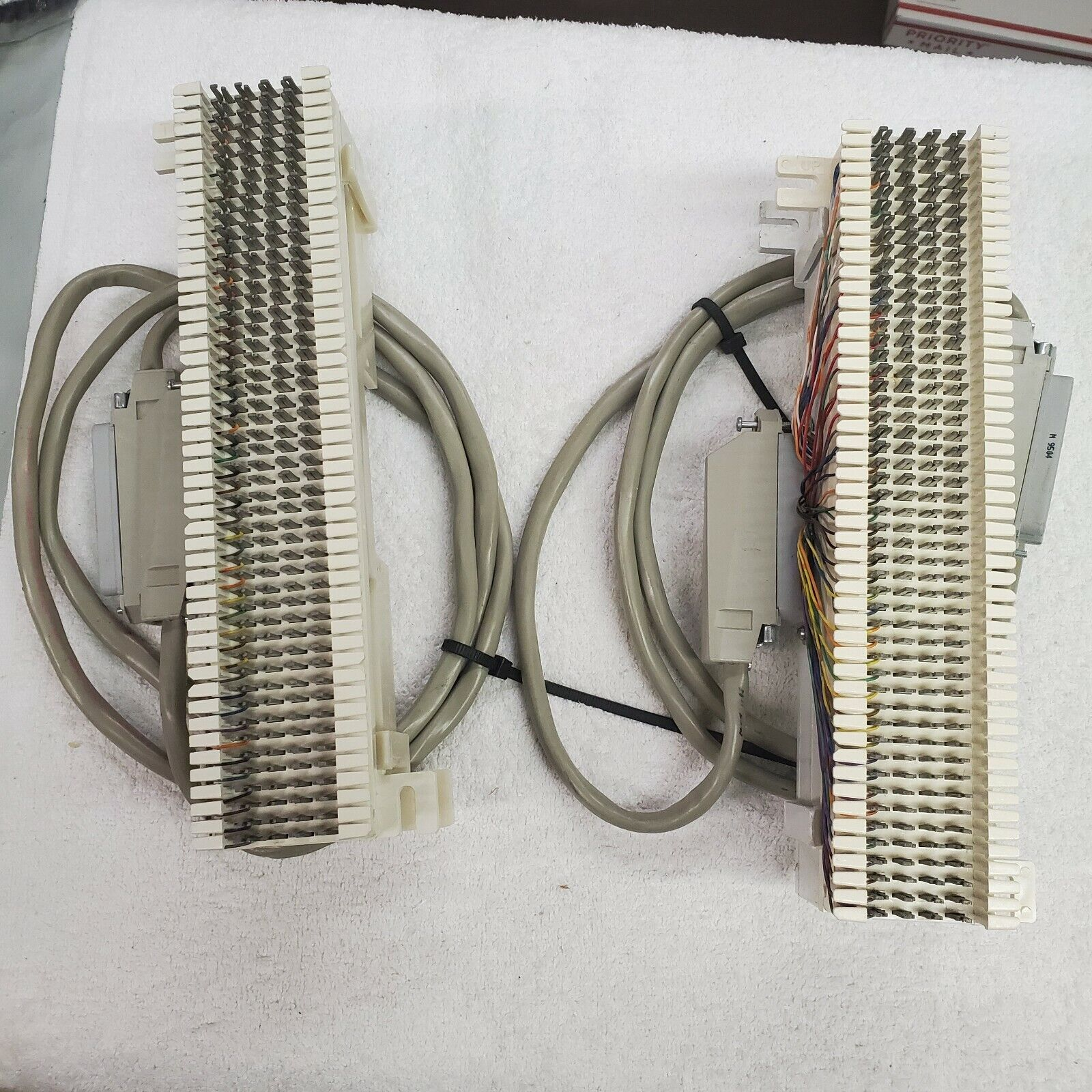 66M1-50 / TELCO / TELEPHONE BLOCKS 2 WITH 25 PAIR FEMALE CABLES - $25.00