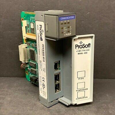 Allen Bradley Prosoft Mvi46-gsc Mv146-gsc Mvi 1.03 Slc 500 Communications Module
