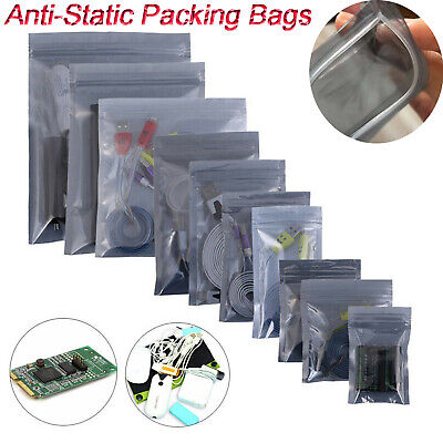 Esd Anti-static Shielding Bag Translucent Zip Lock Hard Drive Resealable Bags