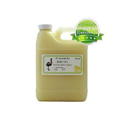 AUSTRALIAN EMU OIL 100%PURE EMU OIL BY DR.ADORABLE 32 OZ/1QU