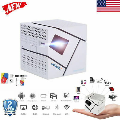 Mini WiFi Home Theater Projector Android BT DLP LED 1080P Ci
