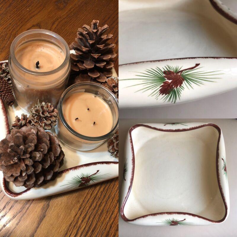 Vintage Loveland Art Pottery Dish/Tray, Pinecone Design