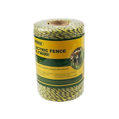 Farmily Portable Electric Fence Polywire 1312 Feet 400 Meter 6 Conductor Yell...