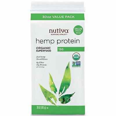 Nutiva Organic Super Food Hemp Protein 15 G 30 oz 851 g B Corp, BPA-Free,