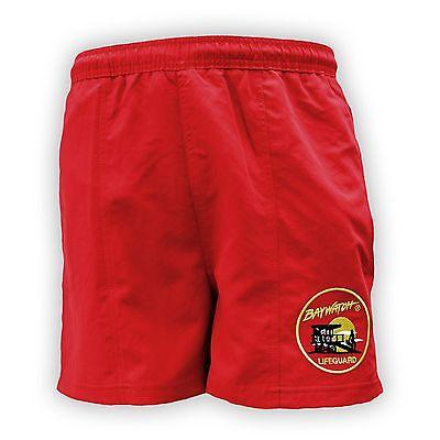 LICENSED BAYWATCH ® RED SWIM SHORTS - Baywatch Costume