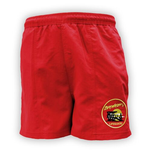 LICENSED BAYWATCH ® RED SWIM SHORTS