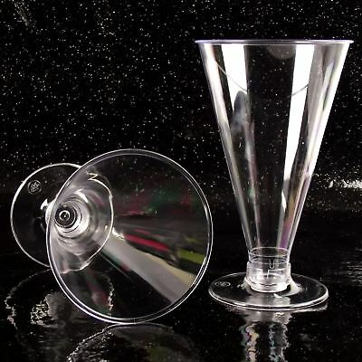 Dessert-cups (Tall Conicle 12.5cm Disposable Dessert Cups (O) Canape Dishes Clear Plastic)