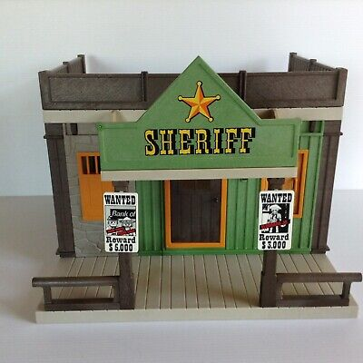 Playmobil Western Sheriff's Office 3786 - Building Only - Good Condition