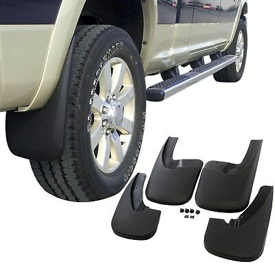 Dodge Ram 1500 Mud Flaps 2009-2018 Mud Guards Splash Flares 4 Piece Front & - Dodge Truck Mud Flaps