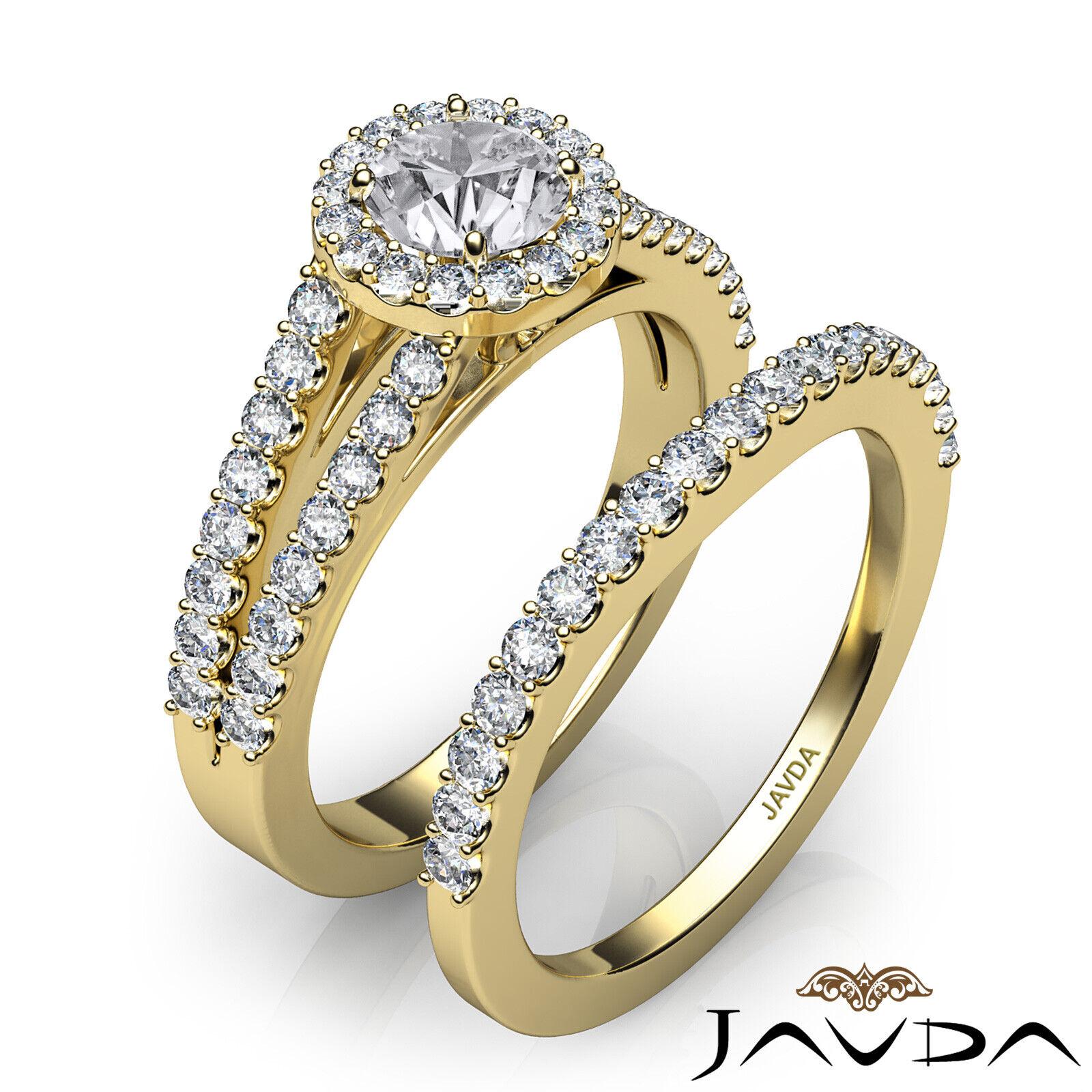 1.85ctw Luxurious Wedding Bridal Round Diamond Engagement Ring GIA G-VVS1 W Gold 10
