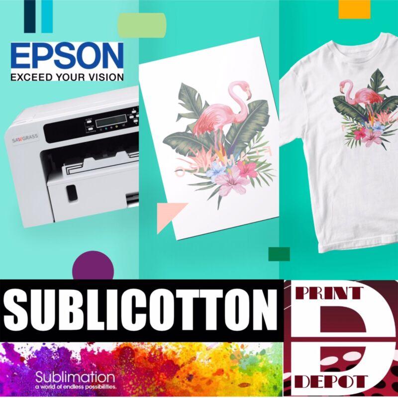 """SUBLICOTTON TRANSFER PAPER 10 Sh PK 8.5""""X11"""" Sublimation paper for Cotton #1"""