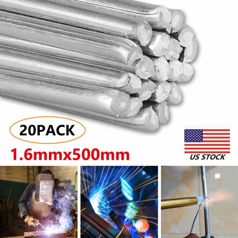Easy Melt Welding Rods Low Temperature Aluminum Wire Brazing 20pcs - 1.6mm*500mm