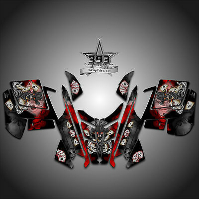 2010 - 2015 POLARIS PRO RMK - RUSH Decal Sticker Wrap Graphics Outlaw Red