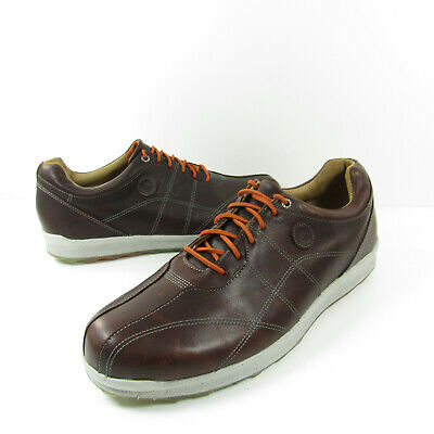 FootJoy FJ Versaluxe-Prev Spikeless Golf Shoes Mens Brown Leather 57253 Size 12M Mens Spikeless Golf Shoes