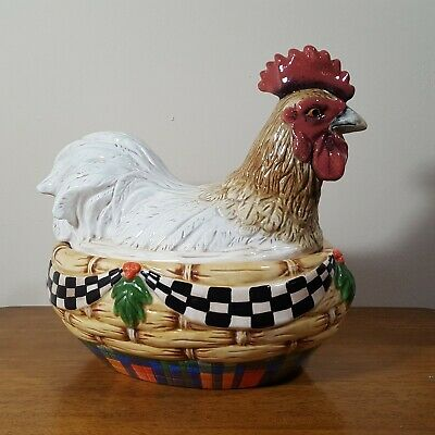 House of Hatten Peggy Fairfax Herrick Rooster Tureen Covered Dish Cookie Jar