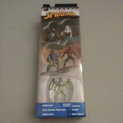 Nano Metalfigs Marvel Spider-Man Jada 5 pack 100% Die Cast Metal.
