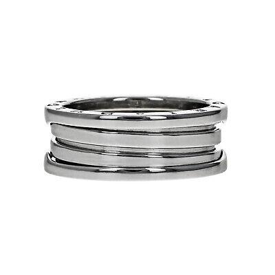Bvlgari B Zero 1 Two Band Ring, 18 Karat White Gold, Size 62 / 10