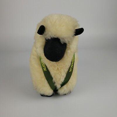 "Lamb Sheep Toy Doll New Pile Wool 10"" Tall Australian"