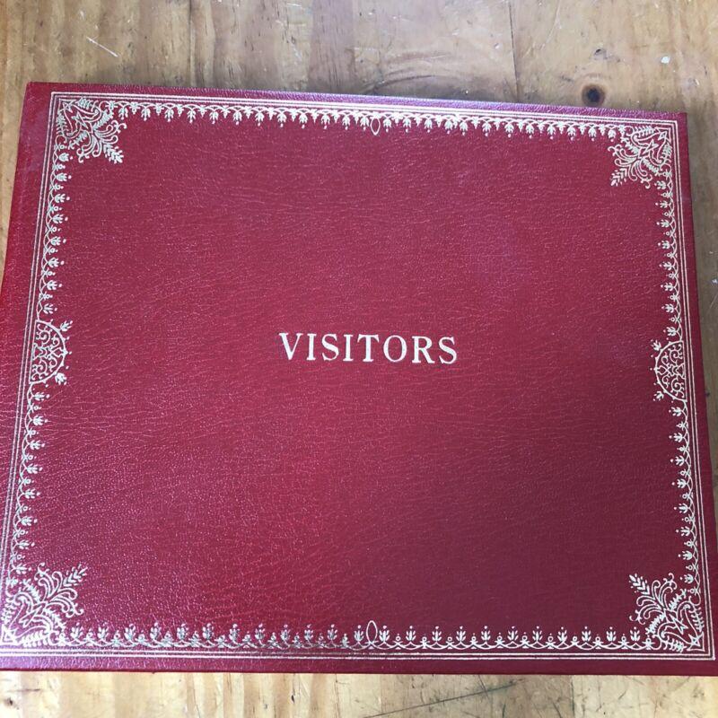 Vintage Unused Empty Smythsons Of Bond Street Visitors Guest Book Gilt Edge Old