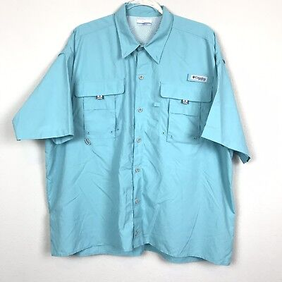 84c786511f6 Columbia Men's Size *XL Teal Fishing Vented PFG Omni Shade Shirt