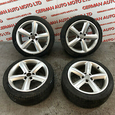 "AUDI A5 S-LINE COUPE 2010 18"" 5 SPOKE ALLOY WHEELS WITH TYRES 8T0601025M"