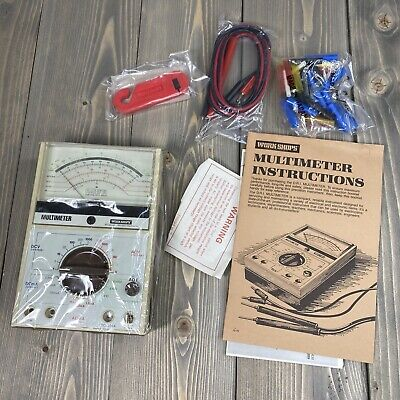 New Vintage 1983 Multimeter Workshops Dri Industries W Accessories Analog