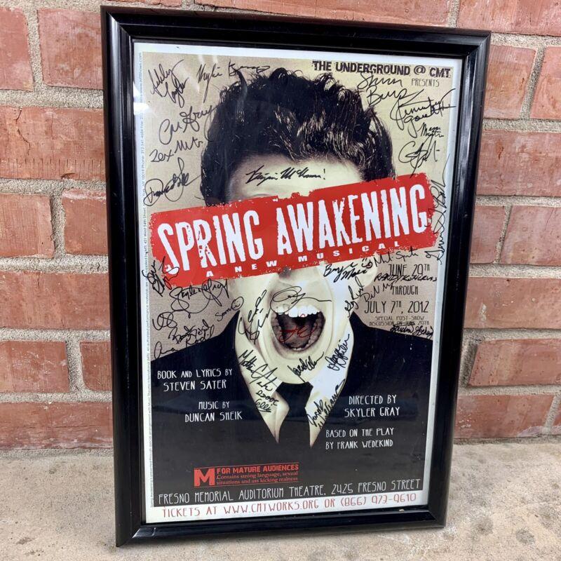 Spring Awakening Original Cast Signed Poster Window Sign Frames 19x13