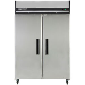 "Maxx Cold 54"" 49 cf Two Door Upright Reach-In Commercial NSF Sub Zero Freezer"