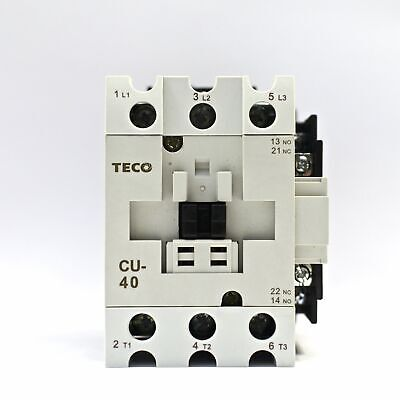 Teco Cu-40 Magnetic Contactor 60a 3 Phase 24v Coil 3a1a1b No And Nc