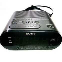Sony Dream Machine AM FM Dual Alarm Clock Radio Model ICF-C218 Auto Time Set