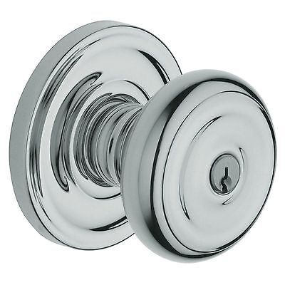 BALDWIN State Colonial Knob Keyed Entry Lock 5210-260-KA4 Polished Chrome Baldwin Entry Locks