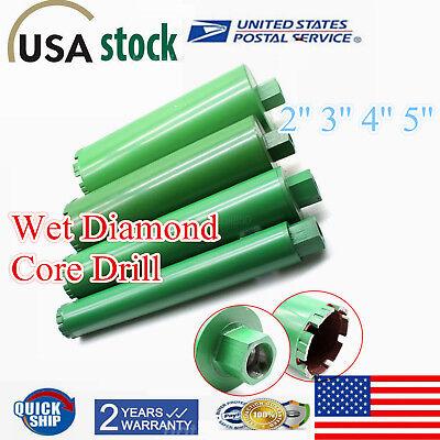 M22 Thread 4x 2 3 4 5combo Wet Diamond Core Drill Bit Green For Concrete