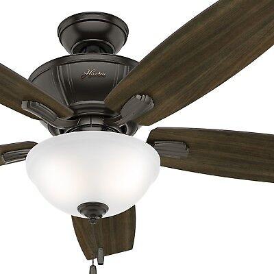 Hunter Fan 52 inch Noble Bronze Indoor Ceiling Fan w/ Light Kit & Remote Control