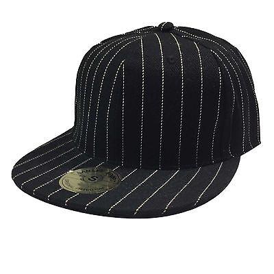 Gangster Headwear (Hip Hop Hiphop Urban Wear Cap Hat Baseball Gangster Pin Stripes Headwear)