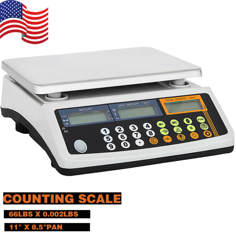 Digital Parts Coin Precise Counting Scale 66Lb X 0.002 Lb Capacity Inventory