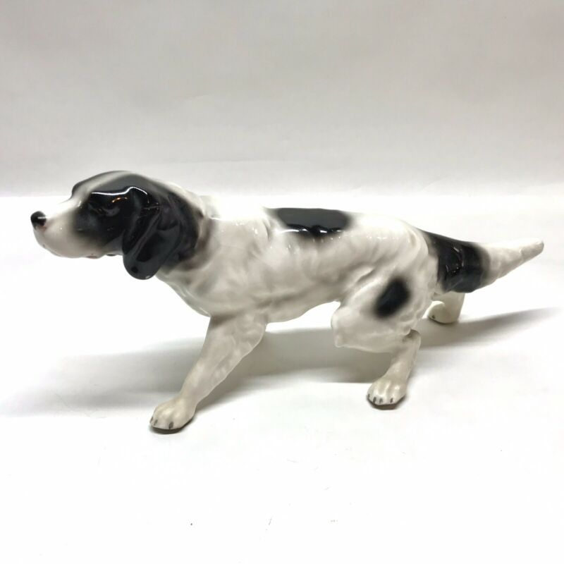 Erphila Germany Porcelain Dog, English Setter Figurine, Pointer, Vintage