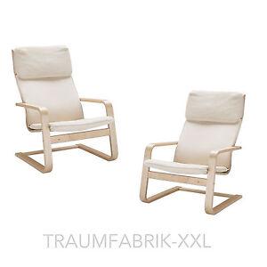 2 x ikea sedia a dondolo pello comodo poltrona cantilever. Black Bedroom Furniture Sets. Home Design Ideas